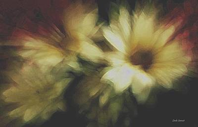Painting Flowers Poster by Linda Sannuti