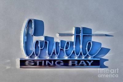 Painting Of 1966 Chevrolet Corvette Sting Ray 427 Turbo-jet Logo Poster by George Atsametakis
