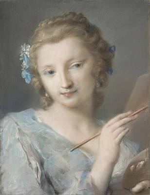 Painting Poster by Rosalba Carriera
