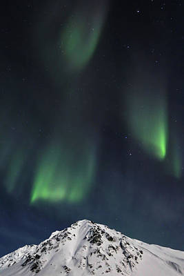 Paintings Of Aurora Borealis Poster by Sam Amato