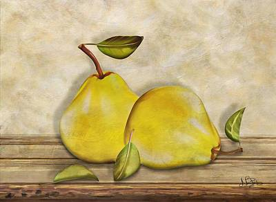 Pair Of Pears Poster by Nina Bradica