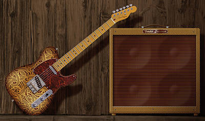 Paisley Telecaster Poster
