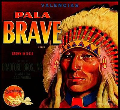 Pala Brave 1920s Sunkist Oranges Poster by Peter Gumaer Ogden