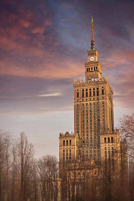Palace Of Culture And Science Warsaw Poland  Poster