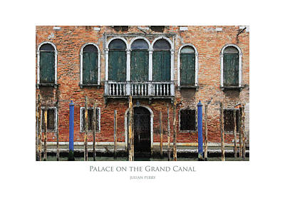 Poster featuring the digital art Palace On The Grand Canal by Julian Perry