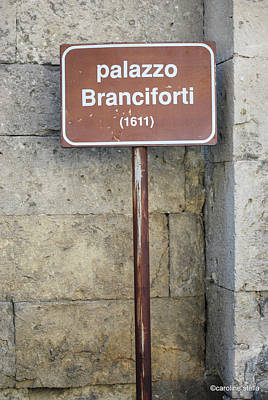 palazzo Branciforte 1611 Poster