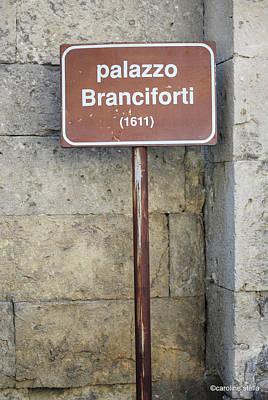 palazzo Branciforte 1611 Poster by Caroline Stella
