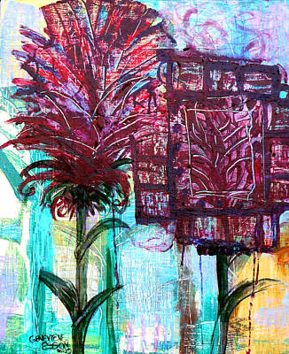 Palette Knife Flowers Poster by Genevieve Esson
