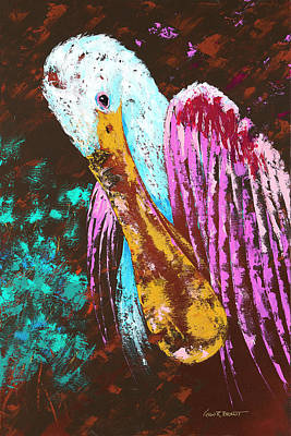 Pallet Knife Spoonbill Poster by Kevin Brant