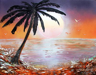 Poster featuring the painting Palm by Greg Moores