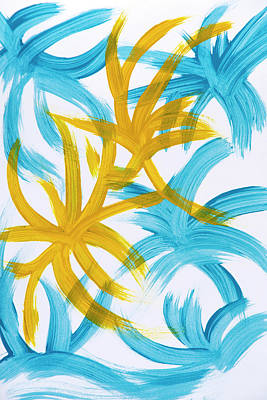 Palm Island Abstract Poster by Christina Rollo
