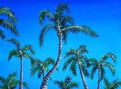 Palm Tops Poster by Anastasiya Malakhova