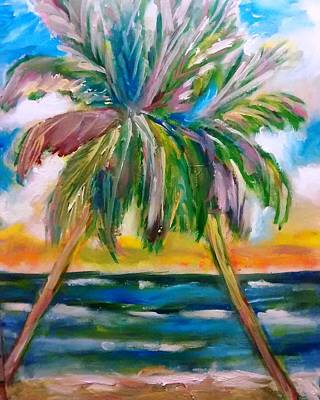Palm Tree Color Times Two Poster