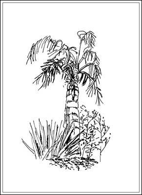 Palm Tree Poster by Masha Batkova