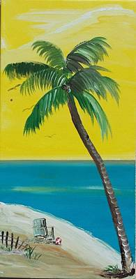 Palm Tree Shade Poster by Linda Walden