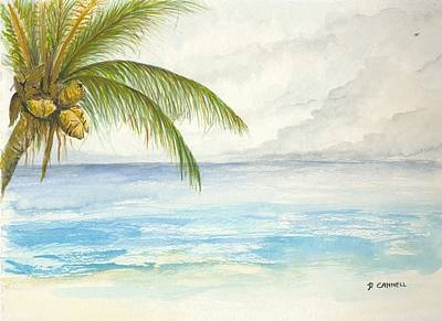 Poster featuring the digital art Palm Tree Study by Darren Cannell