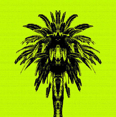 Palm Tree - Yellow Sky Poster