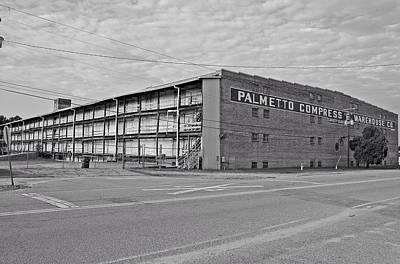 Palmetto Compress Warehouse Bw Poster