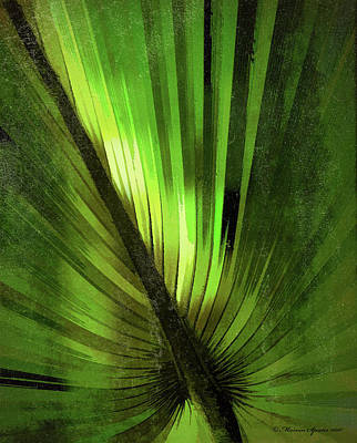 Palmetto Embrace-green Textured Poster