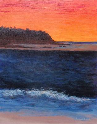Poster featuring the painting Palos Verdes Sunset by Jamie Frier