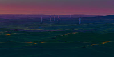 Palouse Sunset 2 Poster by Thomas Hall