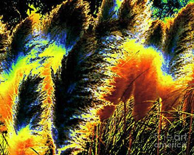 Pampas Grass 1 - Digital Art Poster by Merton Allen