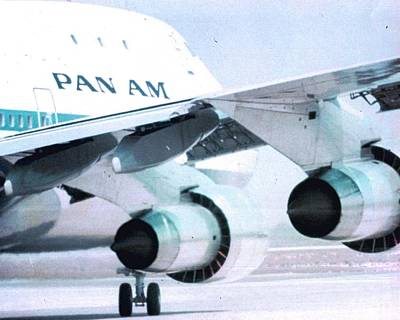 Pan Am 747 At Los Angeles International Airport Poster