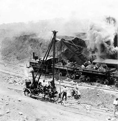 Panama Canal - Construction - C 1910 Poster