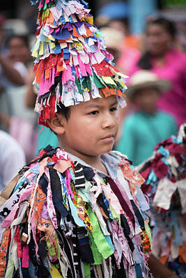Panamanian Boy In Traditonal Costume Poster