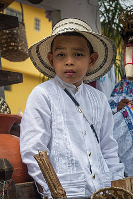 Panamanian Boy On Float In Parade Poster