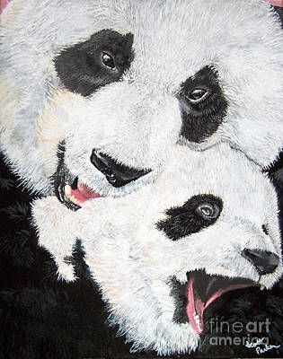 Panda And Baby Poster