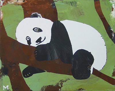 Poster featuring the painting Panda Baby by Candace Shrope