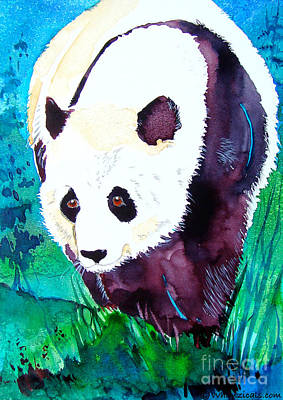 Panda Poster by Jo Lynch