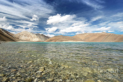 Poster featuring the photograph Pangong Lake  by Yew Kwang