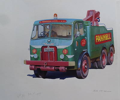 Pannell Leyland Wrecker. Poster by Mike Jeffries