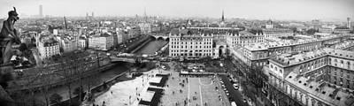 Panorama Above Paris Poster