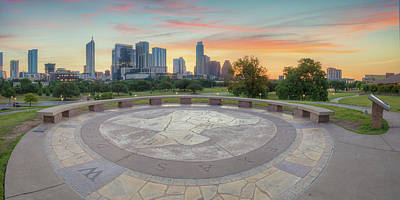 Panorama Of Downtown Austin, Texas, 3 Poster by Rob Greebon