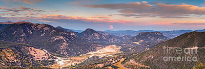 Panorama Of Fall River Road From Rainbow Curve Overlook - Rocky Mountain National Park - Estes Park Poster by Silvio Ligutti