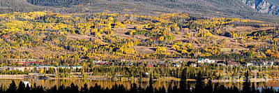 Panorama Of Frisco With Fall Foliage Aspens - Colorado Rocky Mountains Poster by Silvio Ligutti