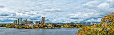 Panorama Of Gatineau Quebec Across The River From Ottawa Ontario  Poster