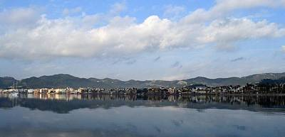 Panorama Of Marmaris Bay  Poster by Tracey Harrington-Simpson
