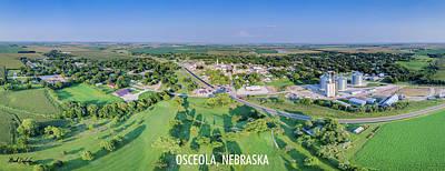 Panorama Of Osceola Nebraska Poster Version Poster
