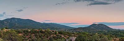 Panorama Of Santa Fe Sangre De Cristo Mountains - New Mexico Land Of Enchantment Poster