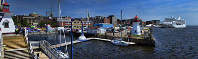 Panorama Of St. John New Brunswick Harbour Poster by David Smith
