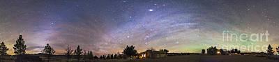 Panorama Of The Celestial Night Sky Poster