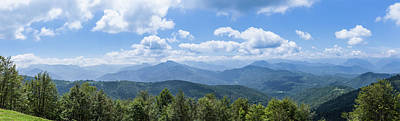 Panorama Of The Foothills Of The Pyrenees In Biert Poster by Semmick Photo