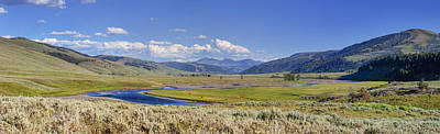 Panorama Of The Lamar Valley Poster