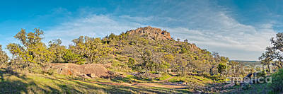Panorama Of Turkey Peak At Enchanted Rock State Natural Area - Texas Hill Country Poster by Silvio Ligutti