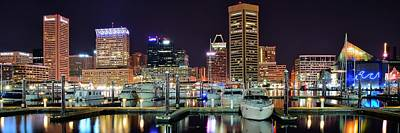 Panoramic Baltimore Poster by Frozen in Time Fine Art Photography