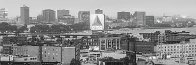 Panoramic Boston Skyline Aerial Photo Poster